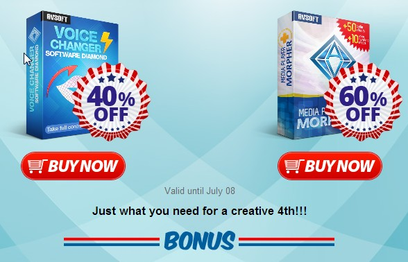 Independence Day: 60% OFF Media Player Morpher & Voice Changer Software Diamond