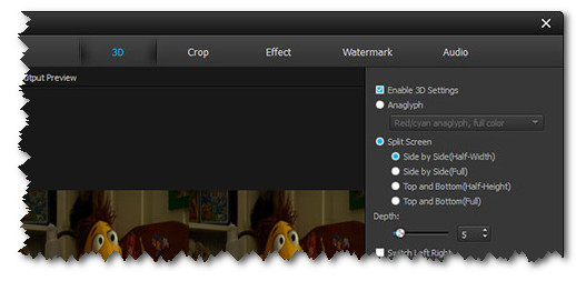 3D settings Aiseesoft Total Video Converter 8