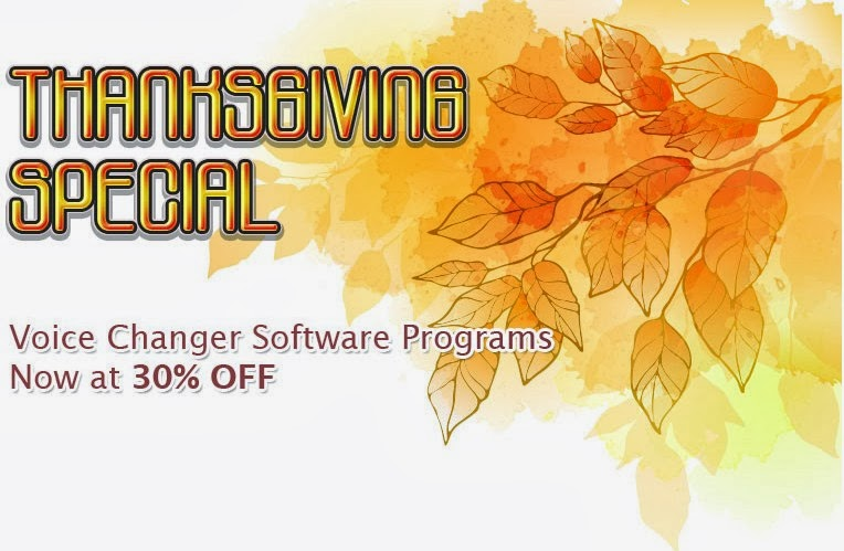 Coupon 40% for Voice Changer Software – Thanksgiving Special 2013