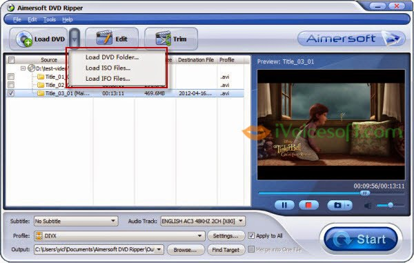 Convert DVD ISO files to MP4 then play on Samsung TV