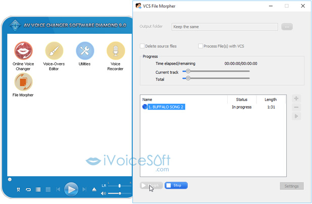 File Morpher – Easily morph & save pre-recorded voice