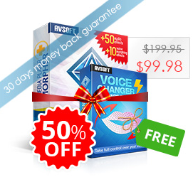 Buy Media Player Morpher with 50% OFF then Get Voice Changer Diamond Free