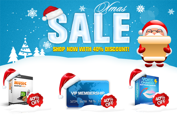 Audio4fun Brings 40% Discount to All Audio Tool on Christmas 2014