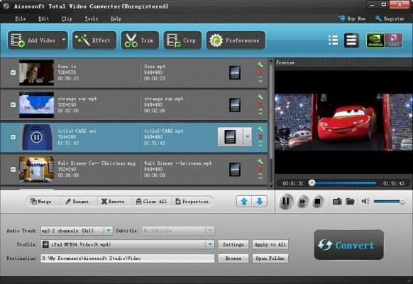 Aiseesoft Total Video Converter – A Full Set of Powerful Video Processing Modules