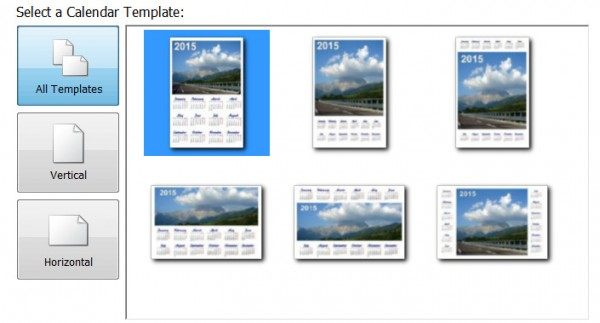 Photo Calendar Creator PRO - templates