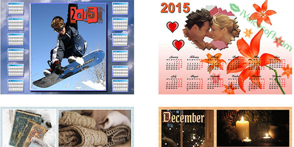 Create personalized photo calendars for home and office from over 100 templates!