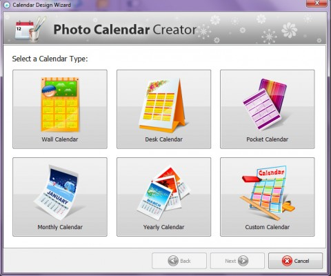Photo Calendar Creator PRO - Calendar types