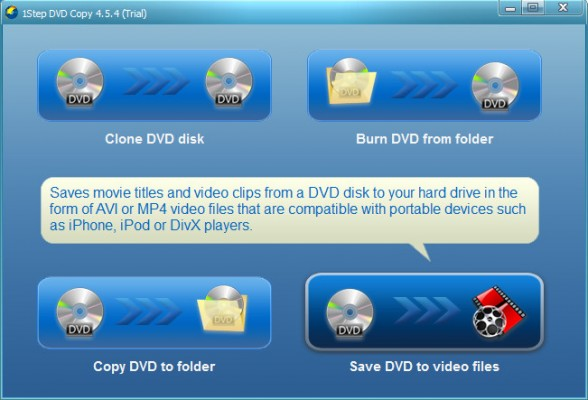 Save DVD to video files