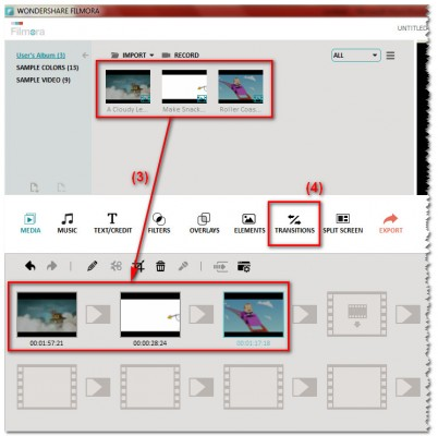 Drag and drop videos to storyboard view