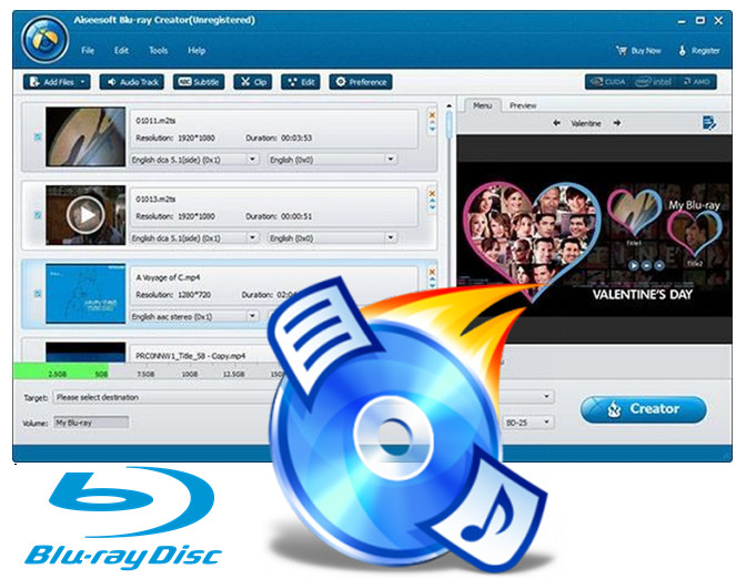 Create a Blu-ray disc