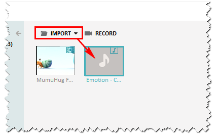 Import audio file