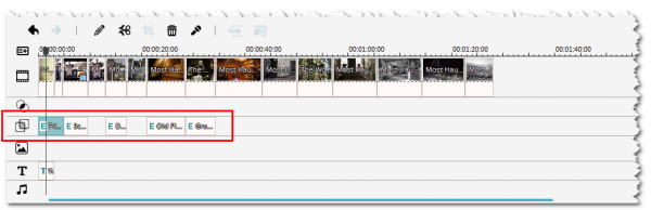 Add overlay effects to timeline