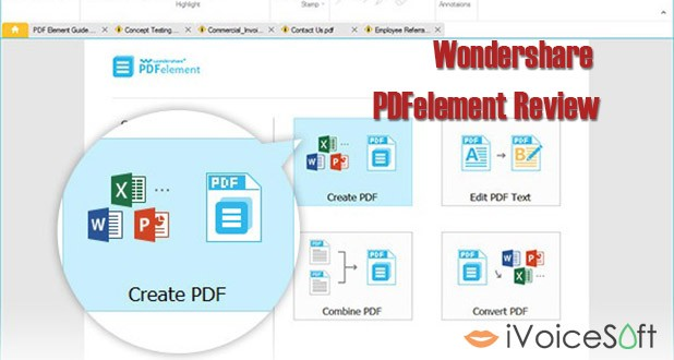 Wondershare PDFelement review- feature