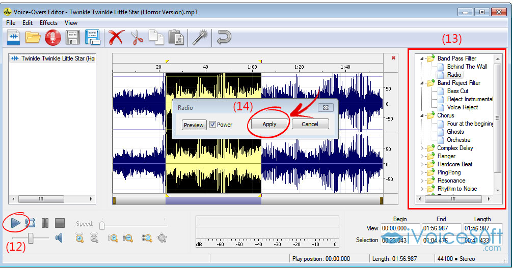 Edit your voice in Voice Changer Software Diamond 9