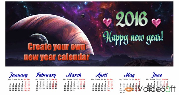 How to create new year calendar
