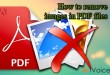 How to remove images in PDF files