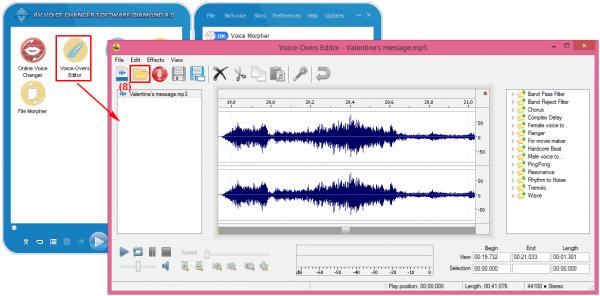 Open voice editor