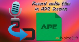 Record audio files in APE format