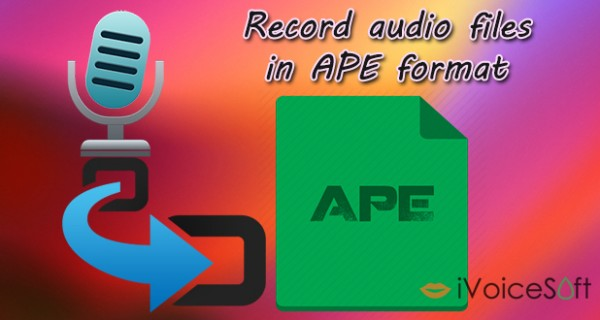 How to Record Audio Files in *.APE format