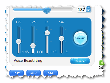 Voice beautifying