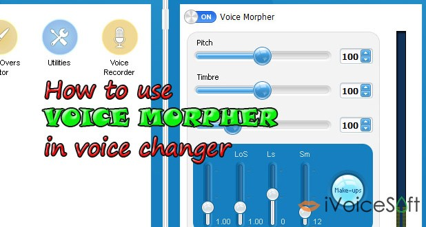 how to use voice morpher in voice changer software