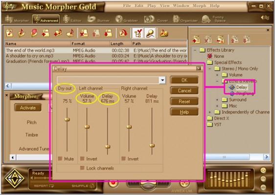 Chasing voice settings in AV music morpher gold