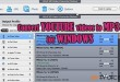 Convert youtube to mp3 for Windows