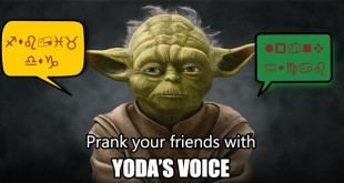 How to speak like Yoda using voice changer