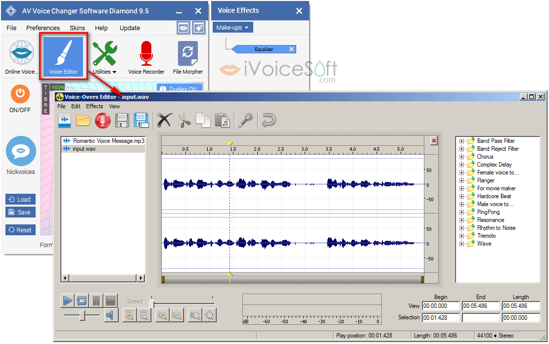 Voice-over editor