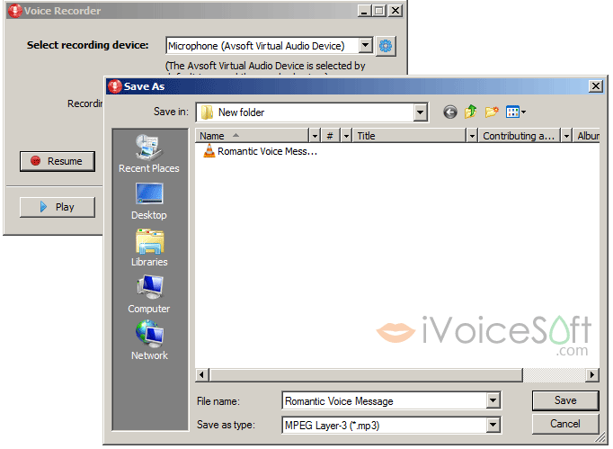 Voice-over recorder: Record and resume