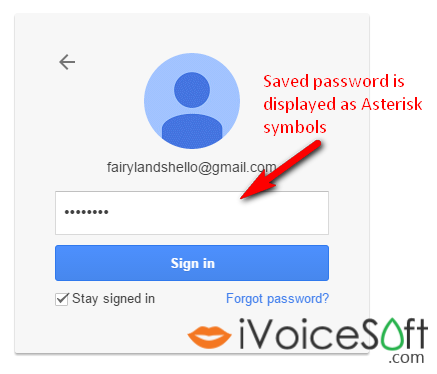 Saved passwords are displayed as asterisk symbols