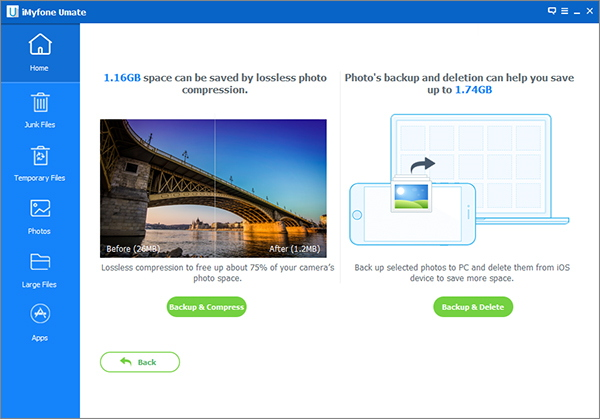 Compress photos losslessly with iMyfone Umate