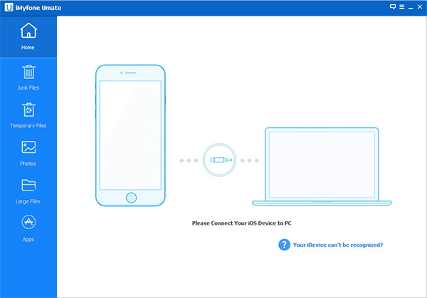Connect your iOS device to your PC.