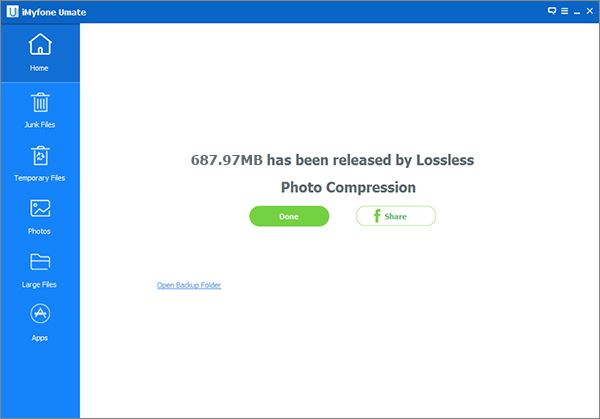 Storage saved by compressing photos losslessly