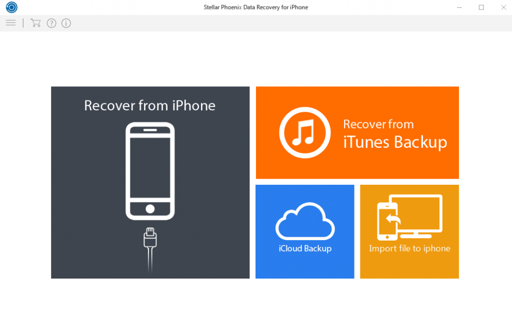 Stellar Phoenix Data Recovery for iPhone – Quick tour