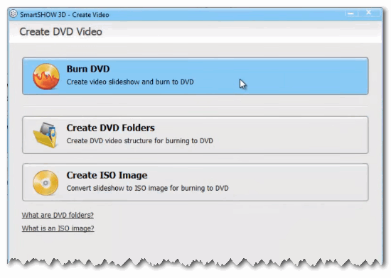 Burn slideshow to DVD