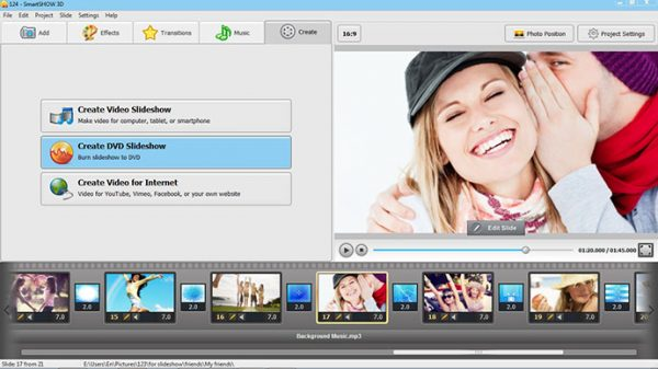 Create DVD slideshow
