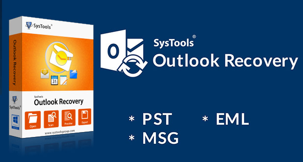 Repairs PST file from Outlook with SysTools Outlook Recovery Tool
