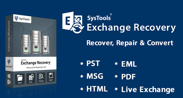Recovery corrupted Exchange EDB file into PST with SysTools Exchange Recovery