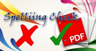 Spelling check in PDF files (PDFElement)