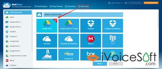 Add Google Drive and Other Related Cloud Accounts to MultCloud.