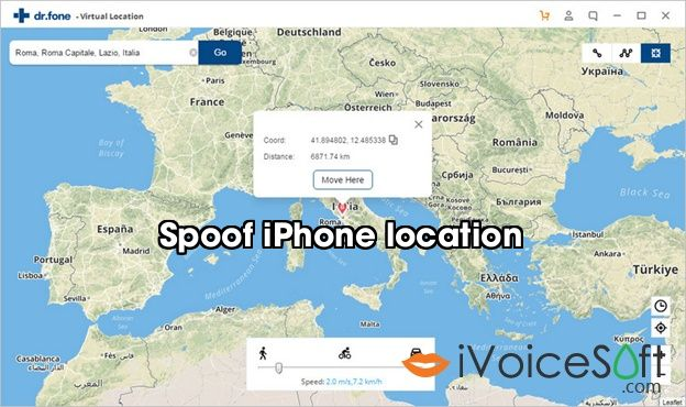 Spoof iPhone location