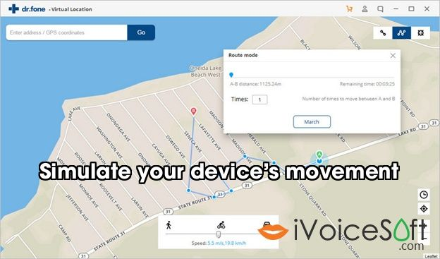 Simulate your device's movement