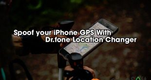 Spoof your iPhone GPS With                 Dr.fone Location Changer
