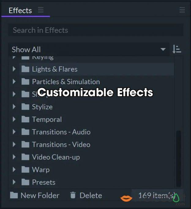Customizable Effects