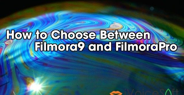 How to Choose Between          Filmora9 and FilmoraPro