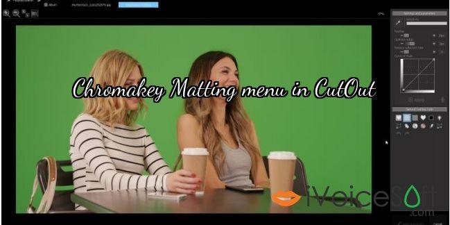 Chromakey Matting menu in CutOut