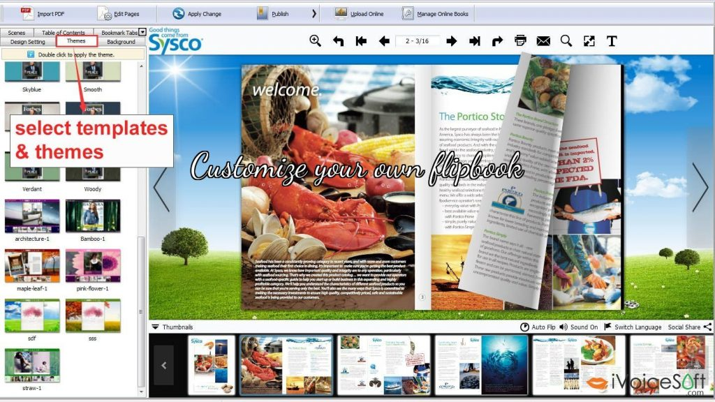 Customize your own flipbook