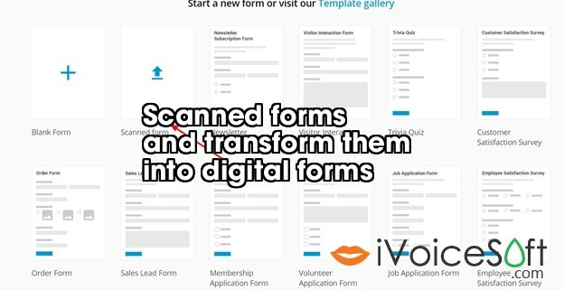 Scanned forms  and transform them  into digital forms