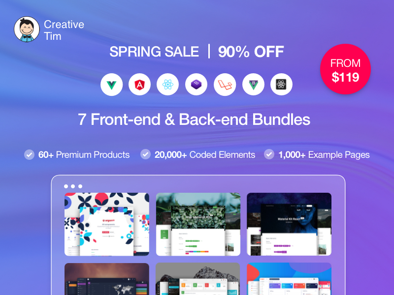 Celebrate Spring with Creative Tim's Spring Sale!